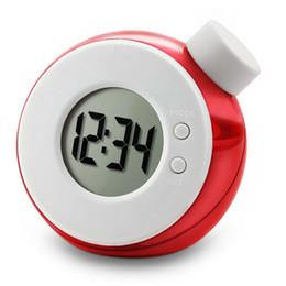 Carole4 Wecker Wasser angetriebener Neue Digitaluhr Umweltfreundlich Alarm für Office Wohnzimmer Schlafzimmer (rot) von Fabrikanten