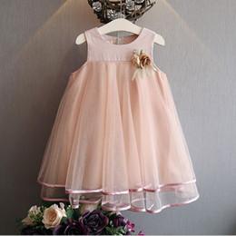 algodão xadrez sundress Desconto BibiCola roupas de bebê pequeno vestido meninas da luva O-Neck Cotton Verão bebê Top Curva-nó Mantas Vestido Outfit Cotton Vestido de Verão