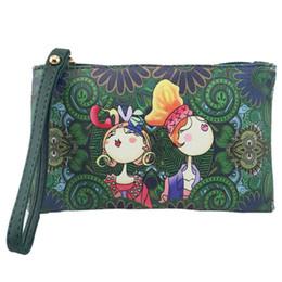 Freizeit-Art- und Weisewaldmädchen-Muster-Drucken-beiläufige Handtasche mit Bügel Reißverschluss Kleingeldmappe Langer Geldbeutel Dropship Y709 von Fabrikanten