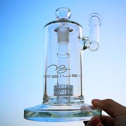 matriz de plataforma petrolera perc Rebajas Clear Sidecar Mobius Glass Bong Stereo Matrix Perc Oil Dab Rig Drum Percolator Pipa de agua con Mobius Decal Hookahs MB01