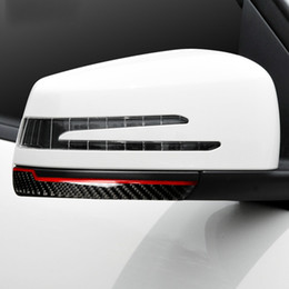 graphiques de voiture 3d Promotion En Fiber De Carbone Rétroviseur anti-frottement Bandes anti-collision Autocollant Pour Mercedes W204 W212 A/B/C/E/G / R Classe GLA GLE GLK CLS GLS