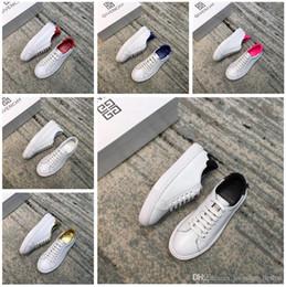Top boxed Designer2 marca mujeres hombres mujeres para hombre unisex blanco cuero genuino zapatillas deportivas sandalias de deporte desde fabricantes