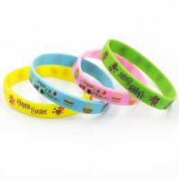Canada 2019 New Easter Egg Bracelet Bracelet pour Enfants Bijoux de Bande Dessinée Silicium Bracelet Pour La Fête D'anniversaire Favor Fans Cadeau Bijoux Offre