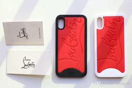 Housses pour iphone blanc en Ligne-Etui pour téléphone portable blanc et rouge pour iPhone X Xs 7 7plus 8 8plus en silicone