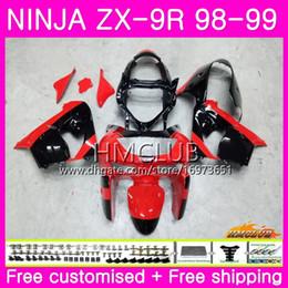 2019 1998 kawasaki zx 9r carenados Cuerpo para KAWASAKI NINJA ZX900 ZX9 R ZX 900 ZX-9R 98 99 carrocería 68HM.0 900CC ZX 9 R ZX9R 98 99 ZX 9R 1998 1999 Kit de carenados Factory red blk 1998 kawasaki zx 9r carenados baratos