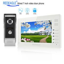 телефоны tft Скидка REDEAGLE 7 дюймов TFT LCD видео-телефон двери визуальный домофон дверной звонок система 1024x600 монитор 700TVL металл открытый инфракрасная камера