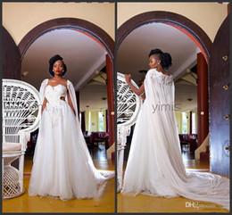 vestidos brancos pretos da recepção de casamento Desconto 2020 New uma linha branca Tulle envoltório Africano do copo de água Vestido preto meninas vestidos de noiva abito da sposa vestidos de noiva baratos