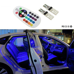 jaguar emblemas emblemas Desconto Acessórios 2x Car T10 Luzes W5W viaturas RGB remoto LED Para Mercedes Benz W204 W203 W211 W205 W124 W205 W210 Glk Gla Amg