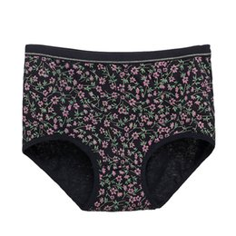 a98f493370e3 Breathable Panties Women Flower Print Cotton Panties Sexy Mid-Rise Underwear  Women Soft Comfortable Seamless Briefs Underpants