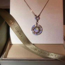 placa rotativa Desconto 2019 nova moda jóias colares de prata banhado a pequena clavícula cadeia