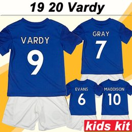 Miúdos, cinza, paleto on-line-19 20 Leicester VARDY Crianças Kit Camisas De Futebol MAGUIRE MORGAN CINZA NDIDI Home Bule Camisas de Futebol New City Criança MADDISON IBOEEA Terno Curto