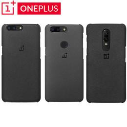 Capa traseira oneplus on-line-Para Oneplus 6 6 T / 5/5 T 100% Original Oficial OnePlus Arenito Genuíno Fosco Fino de Volta Caso Da Pele cobrir
