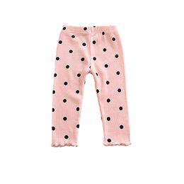 Pontos de calça on-line-Calças de bebê Crianças Calças Justas Calças Meninas Impressão Dot Lace Crianças Calças Crianças Roupas Calças Apertadas Do Bebê 41