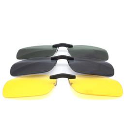 Argentina Las mujeres de la venta caliente acortan el clip en las gafas de sol polarizadas de color verde amarillo polarizadas de la marca de las gafas de sol cheap yellow polarized clip sunglasses Suministro