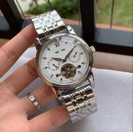relógios shanghai Desconto luxo novo ano DATA SHANGHAI movimento mecânico automático SILVER 42 MM CASE moda homens relógio de aço inoxidável mens relógios