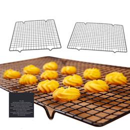 Bandeja de cozinha on-line-Bandeja De Cozimento De Aço Inoxidável Rack De Refrigeração Antiaderente Grade De Cozimento Para Biscoito / Biscoito / Torta / Pão / Bolo de Cozimento Rack de Ferramentas de Cozinha Bakeware