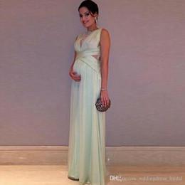2019 billig schwangere prom kleider Abschlussballkleider Lange Vestidos De Festa 2019 Ärmelloses Abendkleid Schwangere Günstige Formelle Partykleider für Frauen günstig billig schwangere prom kleider