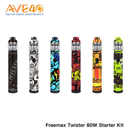 x3 battery Coupons - Freemax TWISTER 80W Starter Kit Built-in 2300mAh Battery With 5ml Freemax Fireluke 2 Tank X2 X3 Mesh Coil 100% Authentic