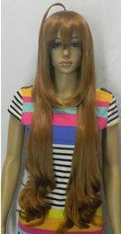 """Nuevas pelucas doradas online-ENVÍO GRATIS ++ perfecta New Golden largo de las mujeres rizadas """"peluca cosplay S COMPLETO"""