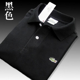 2019 camisa polo 4xl Lacoste  Camisa polo de cocodrilo de alta calidad Hombres Pantalones cortos de algodón sólido Polo Verano polo informal homme Camisetas L01 Polos para hombre Camisas poloshirt camisa polo 4xl baratos