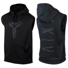 casaco de corrida Desconto Camisa de basquete Camiseta Sem Mangas Com Capuz Ginásio Uniformes de Treinamento de Roupas de Basquete Jerseys Sportwear Colete Preto Camisas Running Hoodies
