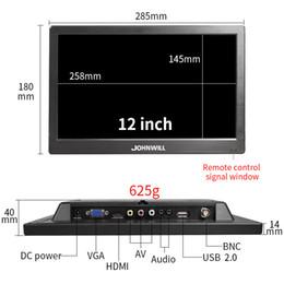 Hdmi de 12 pulgadas online-Nuevo monitor LCD de seguridad de 12 pulgadas Monitor LED Monitor de computadora CCTV con parlantes AV BNC VGA HDMI Monitores de escritorio USB para PS4 PC XBOX