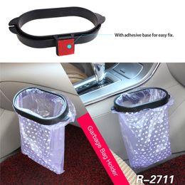 2019 ионные стекла Универсальный портативный кухня / автомобиль мешок для мусора ABS клип авто Автомобиль мешки для мусора рамка держатель для мусора стойку