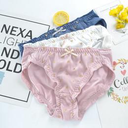 bd20106bb0 Japanese Girl Small Fresh Bronzing Love Ladies Underwear Students Milk Silk  Briefs Bag Hip Waist Cotton File JF1023