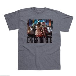 265fcd9b1 Doctor Who Dalek 'EXTERMINATE' Grey Adults Official T Shirts - NEW Men  Women Unisex Fashion tshirt Free Shipping