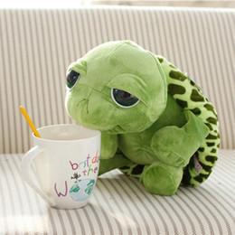 Grande tartaruga peluche occhio online-Animali peluche ripiene di 20 cm animali verdi super grandi tartaruga tartaruga farcita animali peluche regalo giocattolo bimbo wy
