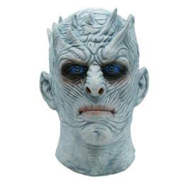 секс-маска для лица Скидка Halloween Night король маскировать фильм Игра престолы Night King маску Halloween Реалистичный Страшного Косплей Латекс партия маски для взрослых зомби Принадлежат