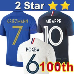 8d360b717 2019 pogba france jersey France camia de futebol 100th anniversary 100  years Tailândia qualidade GRIEZMANN MBAPPE