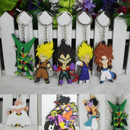 grosse chaîne à billes en gros Promotion 11 Styles En Gros Anime Dragon Ball Z Super Saiyan Fils Gokou Vegeta Porte-clés PVC Porte-clés Pendentif
