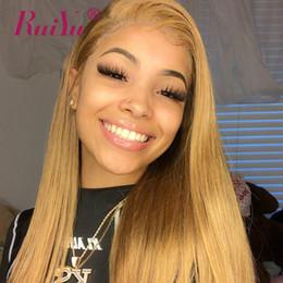 2019 cheveux couleur miel Ruiyu Honey Blonde Bundles Mink Brésilien Remy Cheveux Weave Bundles # 27 Couleur Droite Péruvien Trames De Cheveux Humains Extensions promotion cheveux couleur miel
