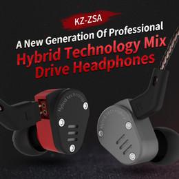 KZ ZSA Metall-Kopfhörerarmatur und dynamischer Hybrid-In-Ear-Headset-Monitor Sport-Headsets Ohrhörer HiFi Bass Noise Cancelling-Kopfhörer von Fabrikanten