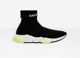botas de invierno mujer corta Rebajas 2019 Nuevo Invierno Oreo Mixed Colors Short Stretch Sneaker moda para mujer Outsoor zapatos casuales calcetines calientes zapatos botas 35-45