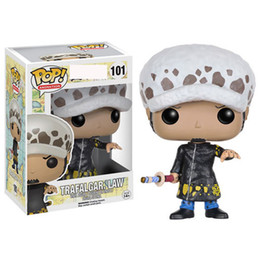 Anime einteilige figuren online-4 Arten Funko POP Anime: One Piece trafalgar law Vinyl-Action-Figur mit Box # 100 Beliebte Toy Gify Geschenk