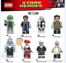 Juguetes heladas online-X0171 Super Heroes Joker Capitán Boomerang Silver Banshee Killer Frost Harley Quinn Toys