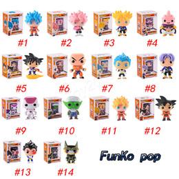 Azioni figure draghi online-FUNKO POP Dragon Ball Z Son Goku Vegeta Piccolo cellulare Action PVC Figure da collezione Modello Action figure al dettaglio Bambola a sorpresa per giocattoli per bambini