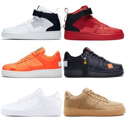 reputable site d02c2 5e032 Air force 1 AF1 Schuhe 1 one shoes New Classic Klassik Hallo Hoch und  Niedrig Weiß Schwarz Weizen Männer Frauen Sport Turnschuhe Laufschuhe  Forcen 1 Satin ...