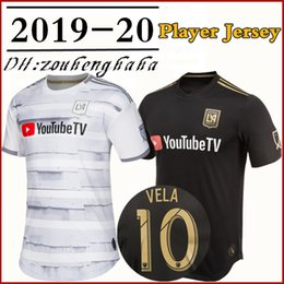 5acb20b34 Men LAFC Carlos Vela Black 2019 Primary Authentic Player Jersey DIO  ZIMMERMAN CIMAN ROSSI GABER HORTA Zelaya Player version Football shirts