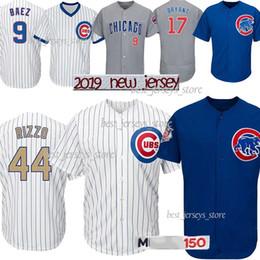 Kyle schwarber online-44 camisetas de béisbol Rizzo de Chicago Cubs 9 Baez 17 Bryant 12 Kyle Schwarber 22 Jason Heyward Los más vendidos Jersey 2019 hombres
