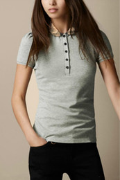 2019 англия дизайн рубашки поло 2019 новый дизайн летняя мода англия женская клетчатая футболка с коротким рукавом высокого качества 100% хлопок принт рубашка поло черный розовый скидка англия дизайн рубашки поло
