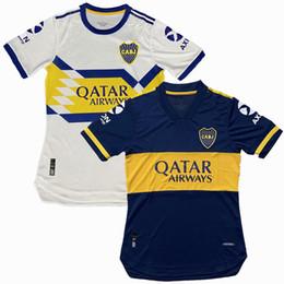 2019 ko Player Version 20 21 Boca Juniors maillots de foot Fußballjersey SALVIO TEVEZ DE ROSSI 2020 2020 zu Hause weg Fußball-Spielerhemd