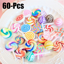 sewing assorted colors 10 pcs 11x16mm lollipop candy 2 hole wooden buttons