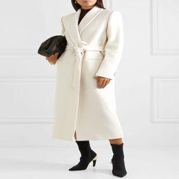 2020 maxi invierno plus abrigos mujer además de mujer de tamaño abrigo de lana blanca 2020 botón de un maxi abrigo largo ropa femenina con chaqueta informal cinturón maxi invierno plus abrigos mujer baratos