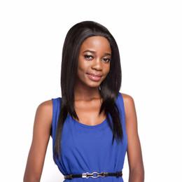 Longue ligne droite avant de cheveux synthétiques Perruques Pour Femmes ZXTRESS Noir Brun Couleur Layered Hairpiece 1.5 * 13.5 pouce Dentelle Perruque Frontale Partie Gratuite ? partir de fabricateur