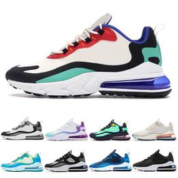 Jade de azeitona on-line-Nike air max 270 react sapatos Parra Soco Foto Azul Dos Homens Das Mulheres calçados casuais Triplo Branco Universidade Vermelho Volt Olive Habanero Flair Sneakers tamanho 36-45