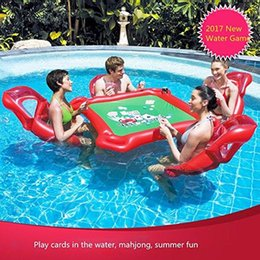 poker adulto Sconti SmartLife gonfiabile Water toys Poker Game Adult Swim Anello Monti gonfiabile galleggiante letto flottante Giocattoli Row