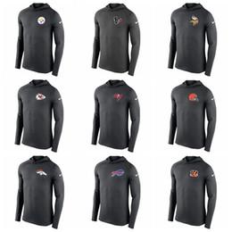 2019 t-shirts de bronzeamento para homens 2019 Top Quality Men T Shirts camisola Chefes Broncos Marrons Bills Bengals Buccaneers Manga Comprida Com Capuz Desempenho T-Shirt desconto t-shirts de bronzeamento para homens
